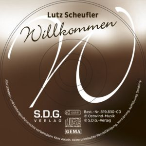 """Mini-CD """"WILLKOMMEN"""" mit Klappkarte"""