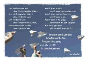 Postkarte Frieden wird werden